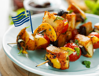 HALLOUMI VEGETABLE KABOB